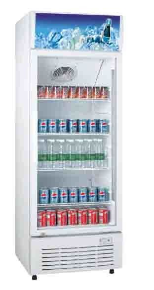 350L Saving-energy Low Noise Commercial Fridge / Auto Defrost Refrigerated Display Cooler / Beverage Cooler